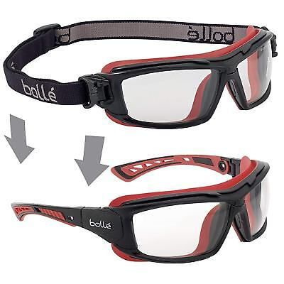 Bolle Safety ULTIM8 Ultimate Glasses With Clear Lens Black/Red Clear ULTIPSI