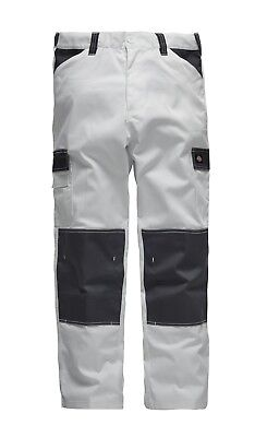 Dickies ED247 Everyday White/Grey Painters Decorators Work Cargo Combat Trousers