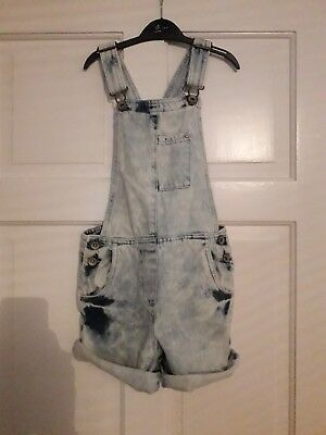 Next Girls Shorts Dungarees Denim Jeans Age 8 Years Excellent Condition