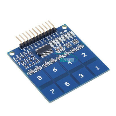 2PCS TTP226 8-Channel Digital Capacitive Switch Touch Sensor Module For Arduino