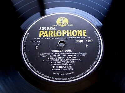The Beatles Rubber Soul Lp PMC 1267 Original 1965 UK Mono Pressing VG/Excellent-