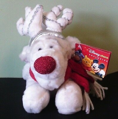 Disney's Tigger Beanie Soft Toy - Reindeer Tigger - Rare And Collectable - Nwt