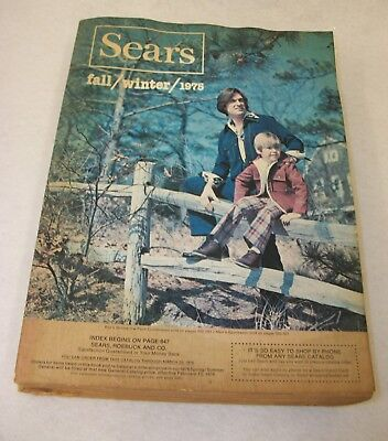 Vintage Sears Fall Winter 1975 Catalog