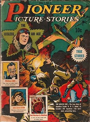 """""""pioneer Picture Stories"""" Street & Smith Publ. #1 Dec 1941 Comic Book 10¢ Vg"""