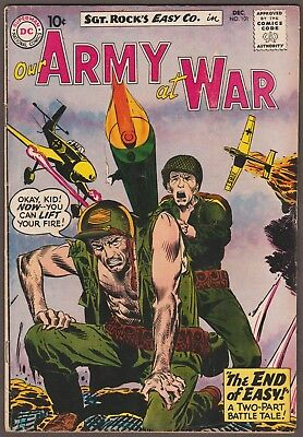 """our Army At War"" Comic Book #101 Dc Comics/national Publ. Dec. 1960 10¢  Vfn"