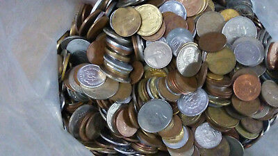 8 lbs of mixed FOREIGN COINS, bulk world coins by the pound! Many countries!