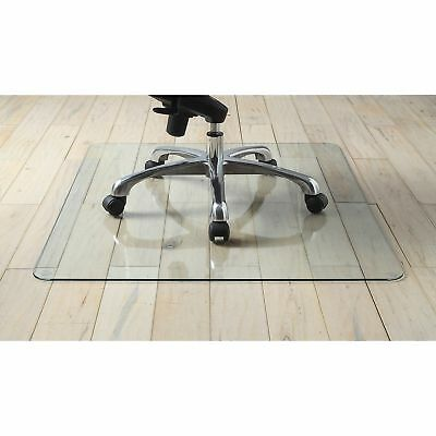 """Lorell Chairmat Tempered Glass 46""""Wx36""""Lx1/4""""H Clear 82833"""