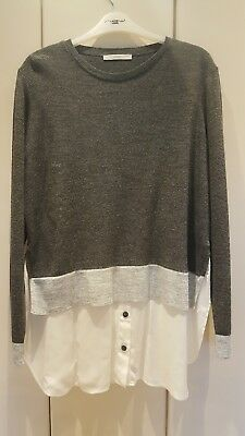 George jumper with shirt inset size 16