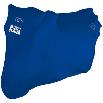 Oxford Protex Stretch Indoor Motorcycle Scooter Cover Medium Blue CV179
