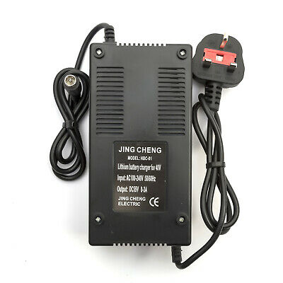 48v Lithium Battery Charger 0-3Amp Mobility Scooter 10Amp - 15Amp Male UK Plug