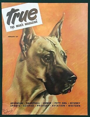 GREAT DANE DOG illus by Kopland 1946 Magazine Cover Only. GREAT GIFT!