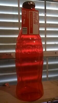 """Coca-Cola Plastic Bottle Red Piggy Bank- 23"""" Tall"""