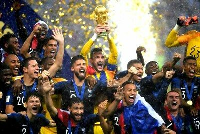 """France football World Cup winners 2018 in Russia 12""""x8"""" photograph picture print"""