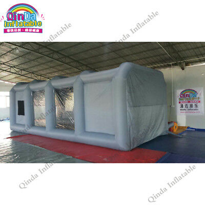 Inflatable car painting tent inflatable spray booth for car maintenance 8x4x3m
