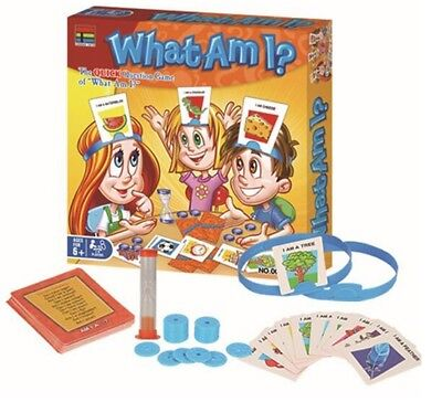 Kids Traditional What Am I? Children Fun Card Guessing Game With Headbands Fun