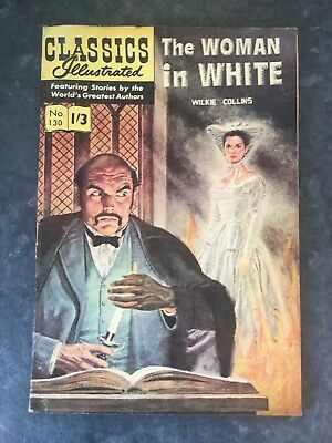 The Woman in White By Wilkie Collins, Vintage Illustrated Comics