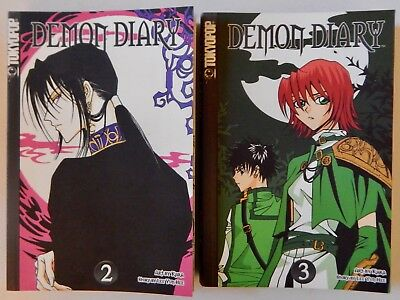 Lot Of 2 Demon Diary Manga, Vol. 2 & 3, TokyoPop Graphic Novels In English