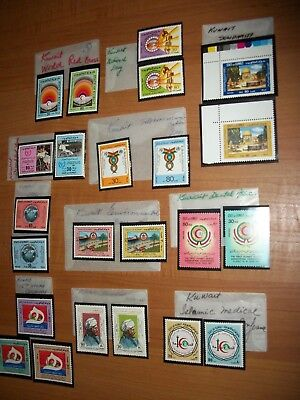 23 Vintage State of KUWAIT STAMPS MINT/MNH Rare ISLAMIC KUWAIT STAMP Collection