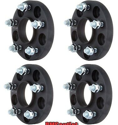 Black hubcentric wheel spacer Ford 5x108 2 pairs of 25mm per side