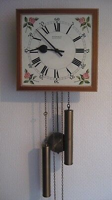 Wall Clock by 'Kienzle', weight driven with pendulum, for repair.