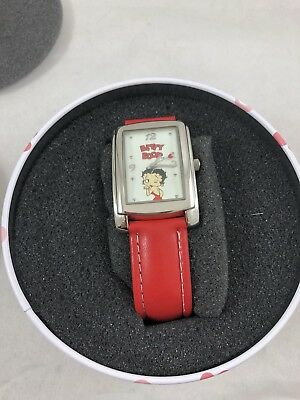 NEW Betty Boop Fashion Watch in Collectable Tin With Red Strap