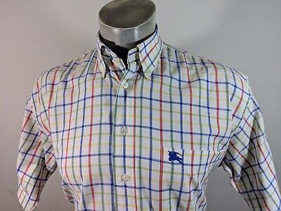 Thomas Burberry Casual Short Sleeve Shirt M Generous Like L XL 1ccb68540fe