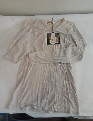 Ragdoll And Rockets Boutique Girls Boca Tee Top Light Grey Size 14 Ret. $32 NWT