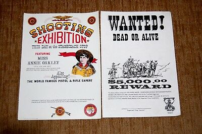 Old West Posters Replicas. Annie Oakley. Wanted Dead or Alive Stagecoach Robbers