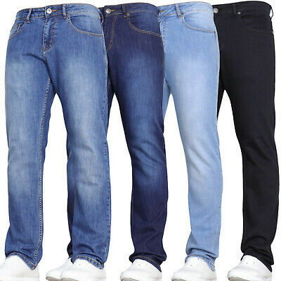 DENIM AND DYE New Mens Stretch Jeans Straight Leg Pants Legs Sale Sizes Waist