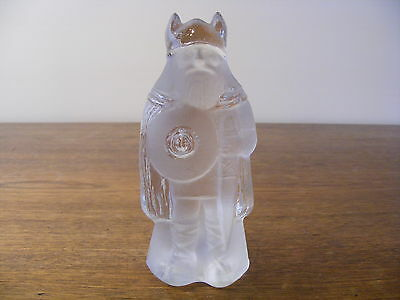 Vintage Sweden NYBRO Crystal Art Glass Frosted Wiking Figurine