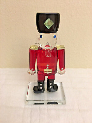 Simon Designs Crystal RED NUTCRACKER Paperweight New in Box