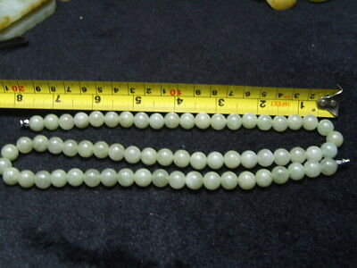CHINESE  JADE /JADEITE BEAD NECKLACE  - See Video   1