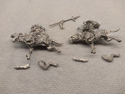 Games Workshop GW LotR Lord of the Rings two metal Warg Riders warg-riders.