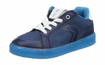 GEOX BOYS SNEAKERS J Kommodor B.A Casual LED Flash Lights