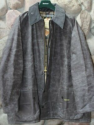 Barbour SMU Beafort Wax Jacket Coat MWX1040CH51 Charcoal New Large L