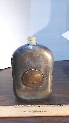 Antique Silver Flask and Collapsible Cup
