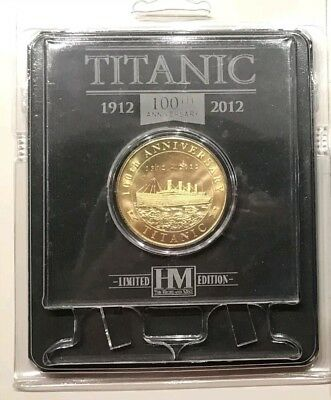 BRAND NEW RMS TITANIC 100TH ANNIVERSARY LIMITED EDITION COIN w/ case, Exhibition