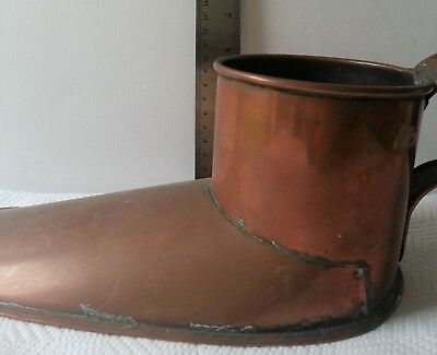 Vintage Copper/Metal Flower Pot/Planter in Shoe Shape