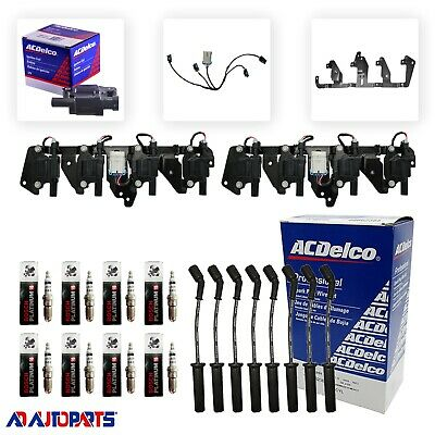 8 41-962 Spark Plugs 8 ACDelco BS-C1511 Coils 8 Plug Wires w//Heat Shields