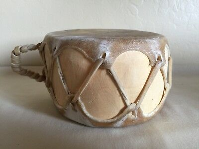 Southwestern American Indian Made Raw Hide Leather Drum