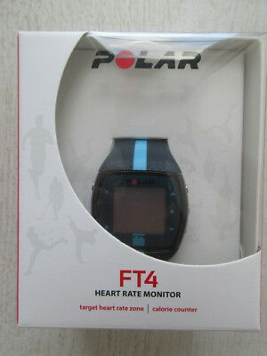 +++ POLAR FT4M Pulsuhr Herzfrequenzmesser Brustgurt blau POLAR +++