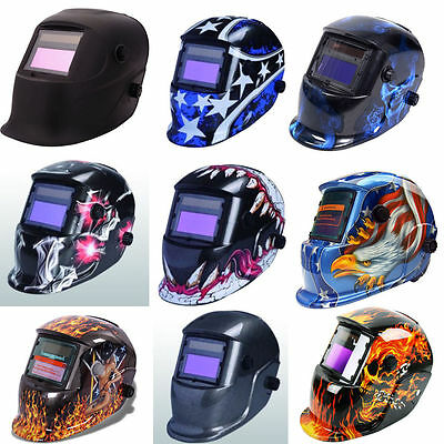 Auto Darkening Welding Helmet Mask Solar Powered Welders Arc Tig Mig Grinding UK