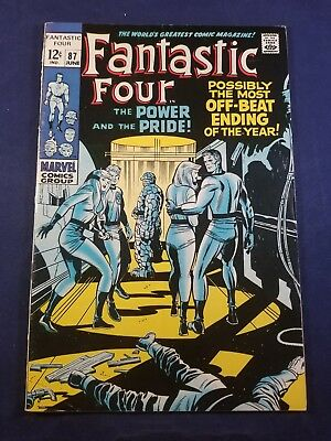 Fantastic Four 87 Stan Lee/jack Kirby Dr. Doom App. 1 Owner 7.0 Glossy White Pgs