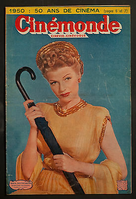 'cinemonde' French Vintage Magazine Rita Hayworth Cover 26 December 1949