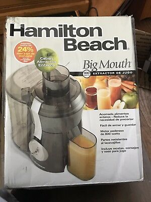 New!!! Hamilton Beach 67650 Big Mouth Pro Juice Extractor Vegetables-Gray