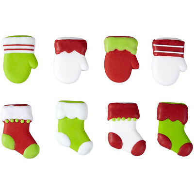 Royal Icing Decorations - Christmas Stockings & Mittens
