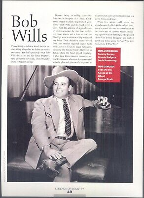 "Bob Wills, Country Music Star in 2014 Magazine Print Item. ""Pioneers"""