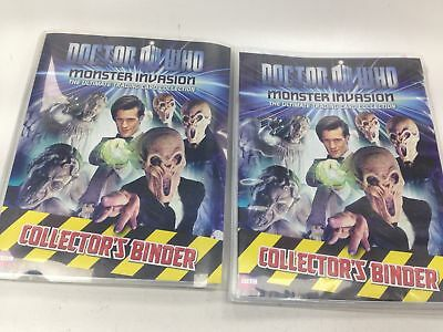 DR WHO MONSTER INVASION Trading Card collection MINT over 450 Cards & 2 Binders