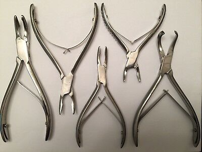 Bone Rongeurs Surgical Dental Instruments Stainless Steel - Set of 5