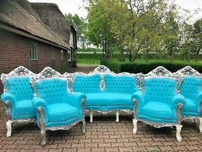 Antique Unique Sofa/couch/settee With 4 Chairs In  Baroque